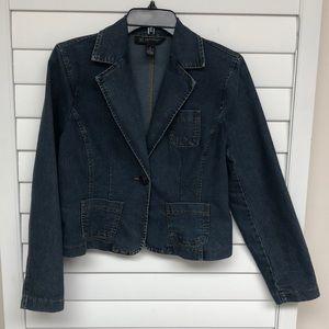 INC Petite denim jacket size small